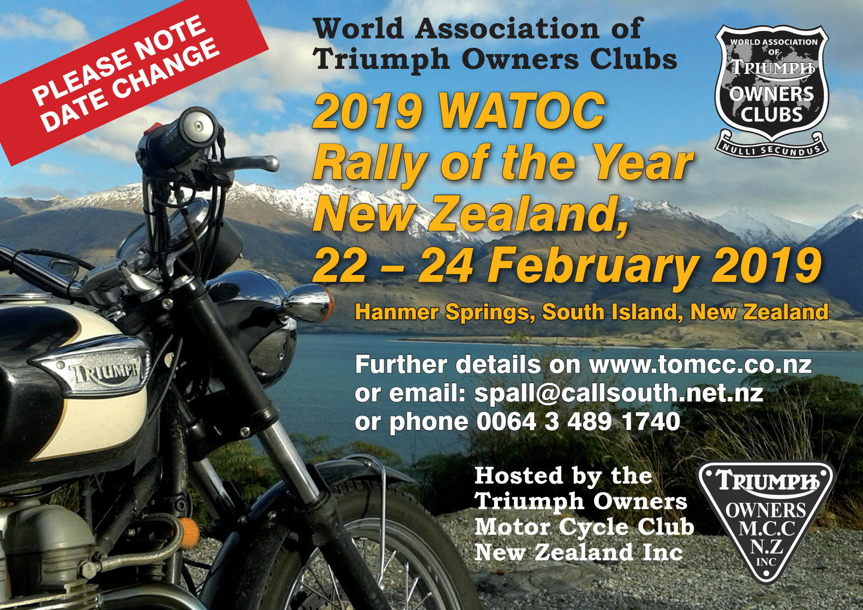 watoc | triumph owners motor cycle club nz inc.